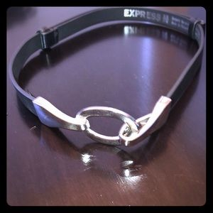 Express belt with silver hardware